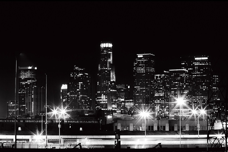 Los Angeles skyline 4th Str bridge by Al Bee, flickr